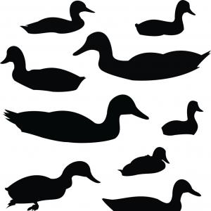 300x300 Duck Silhouette Animal Clip Art Vector Lazttweet