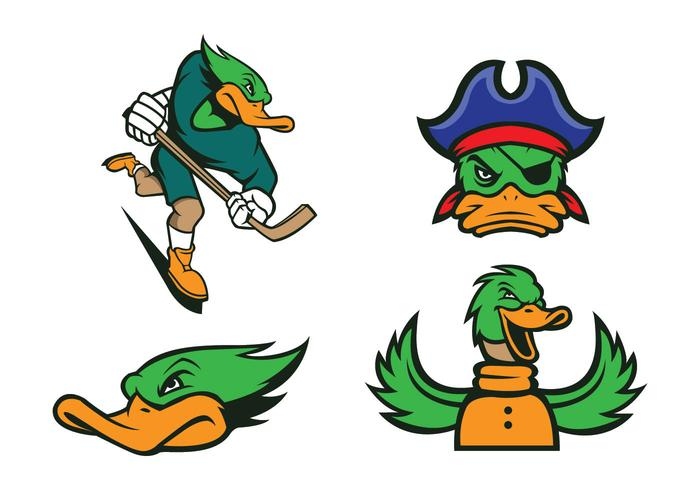 700x490 Free Ducks Mascot Vector