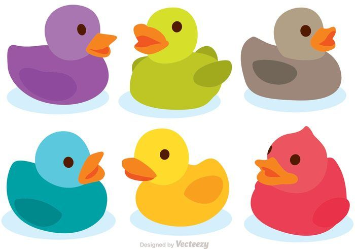 700x490 Colorful Rubber Duck Vectors Charactor Rubber Duck