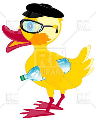 320x400 Bespectacled Duckling In Cap Vector Image Vector Artwork Of