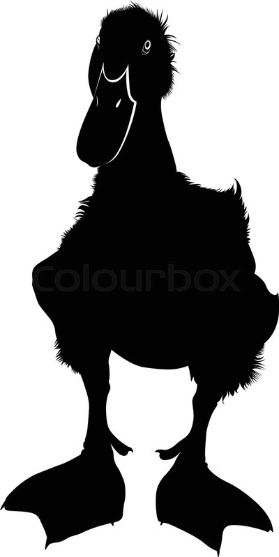 400x799 Duckling Silhouette Vector Illustration. Silhouette Duckling
