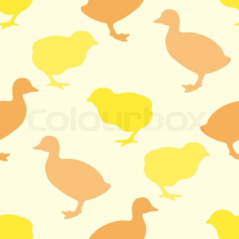 800x800 Seamless Pattern Or Printing Onto Fabric. Wallpaper With Chick And
