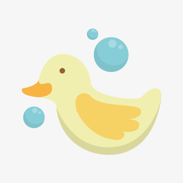 595x595 Vector Painted Duckling, Hand Painted Duck, Duckling, Bath Duck