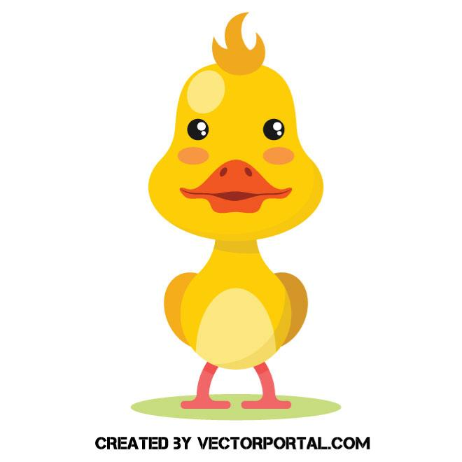 660x660 Yellow Duckling Vector Image