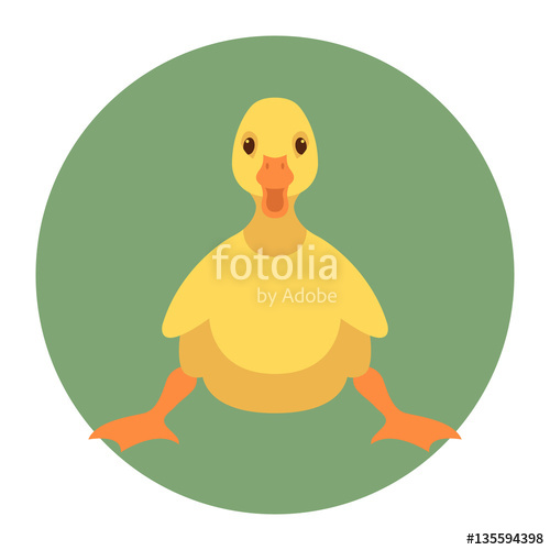 500x500 Duckling Vector Illustration Style Flat Stock Image And Royalty