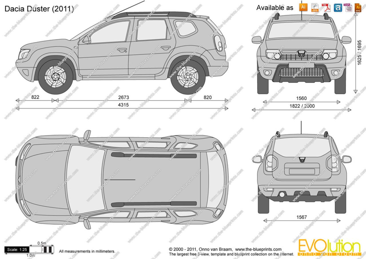 1280x905 Dacia Duster Vector Drawing