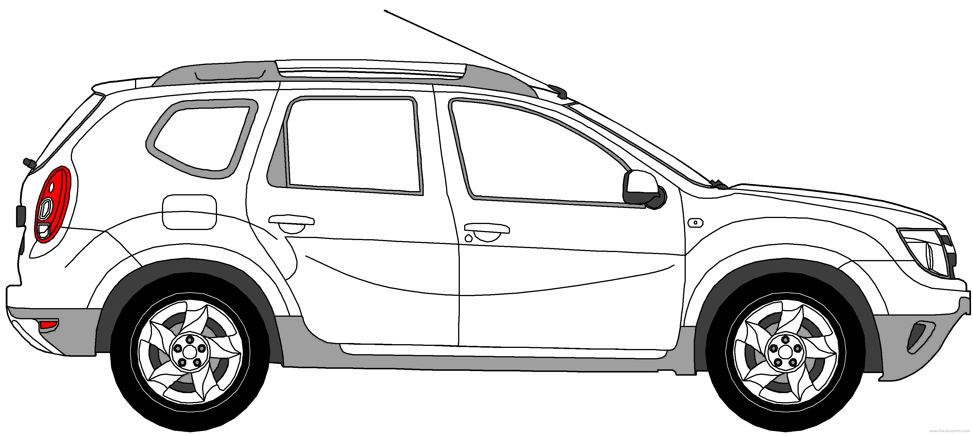3394x1524 Collection Of Renault Duster Drawing High Quality, Free
