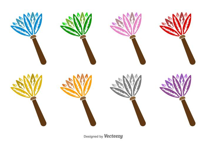 700x490 Feather Duster Vector Icons