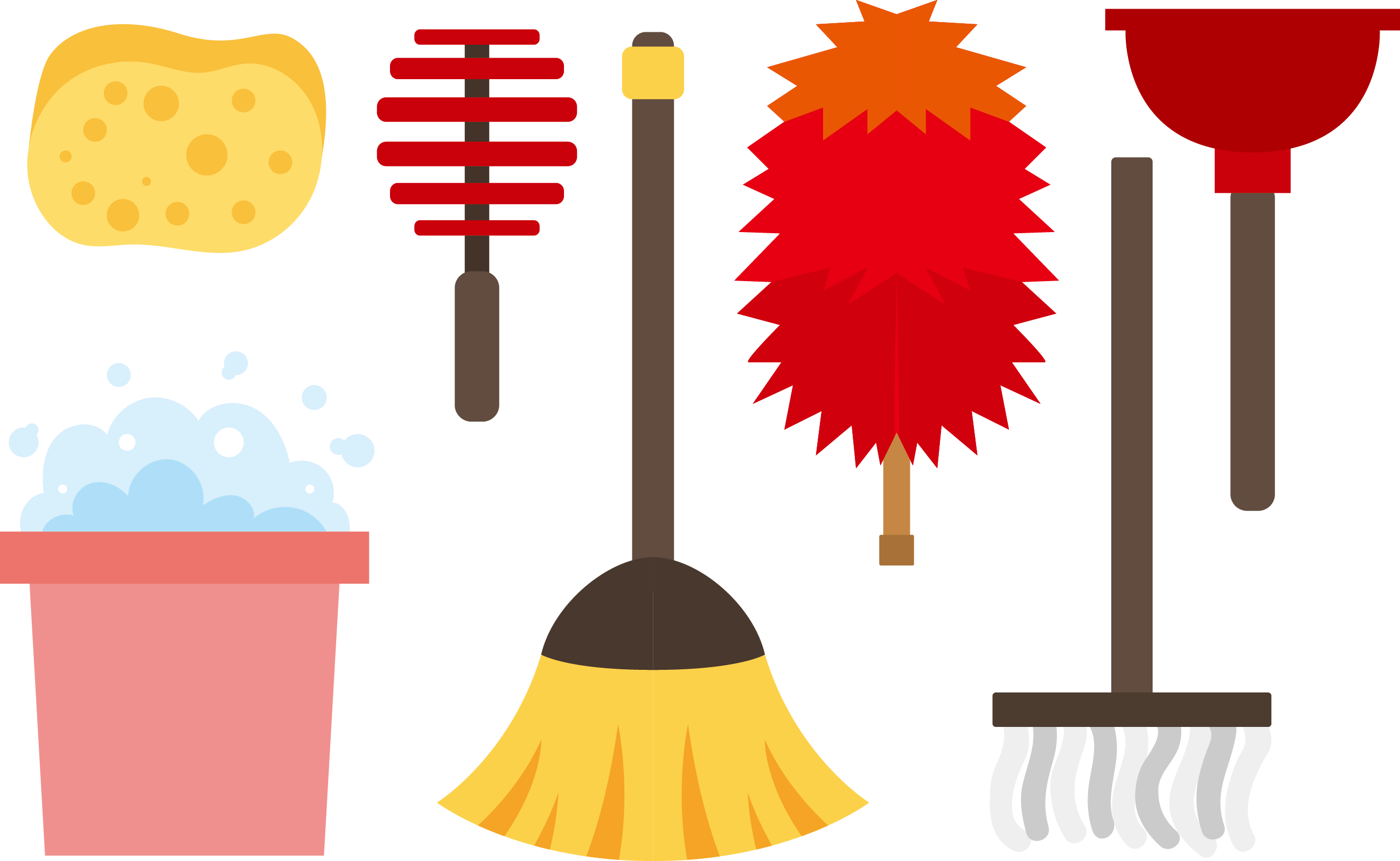 2599x1599 Feather Duster Cleaning Mop Clip Art