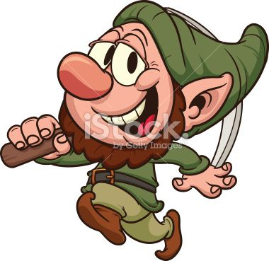380x369 Happy Dwarf Miner. Vector Clip Art Illustration. All In A Single