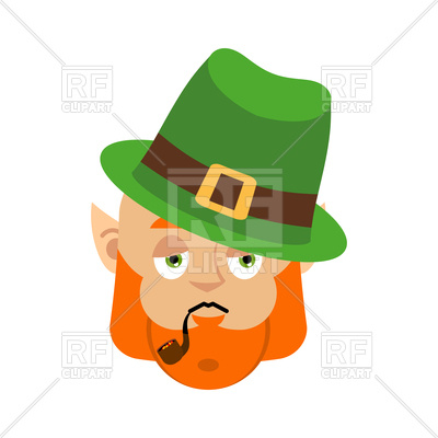 400x400 Leprechaun Sad. Dwarf With Red Beard. Vector Image Vector