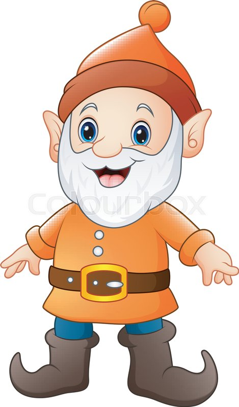 469x799 Vector Illustration Of Cartoon Happy Dwarf Stock Vector Colourbox