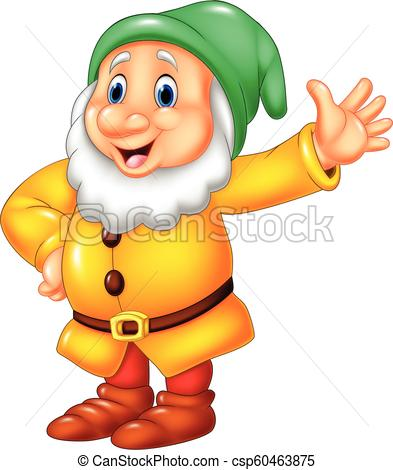 393x470 Vector Illustration Of Cartoon Happy Dwarf.