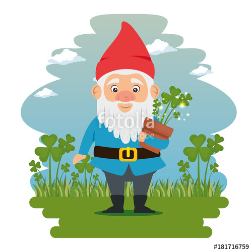 500x500 Fantastic Character Cute Dwarf Vector Illustration Graphic Design