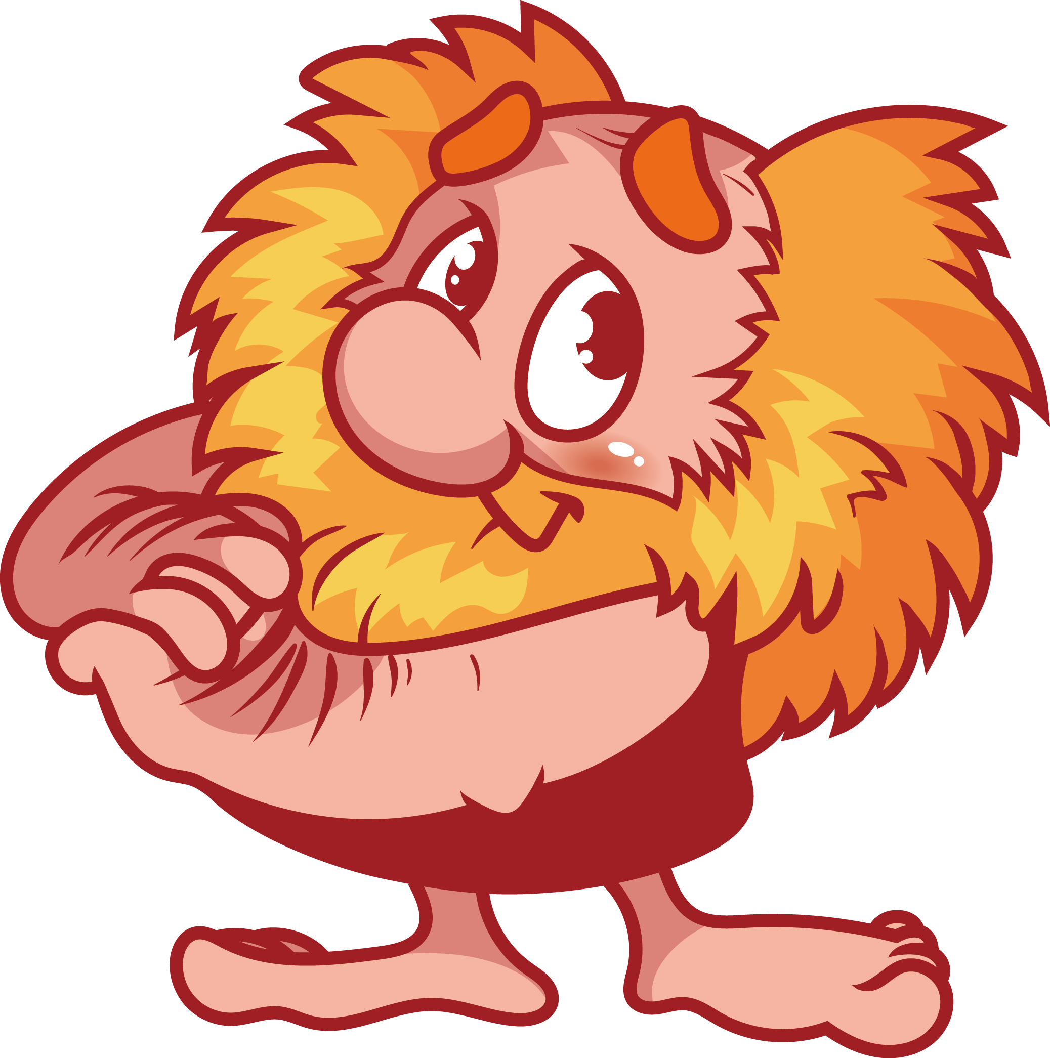 2075x2091 Cartoon Dwarf Clip Art