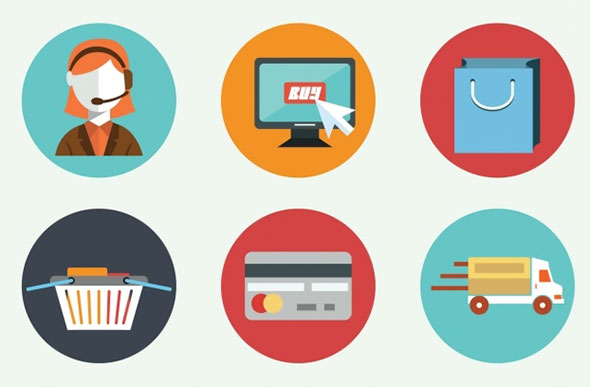 590x387 002623 Nine Flat Elements About E Commerce Vector Free Download