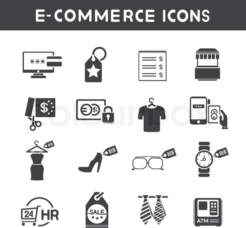800x741 E Commerce And Marketing Icons Stock Vector Colourbox