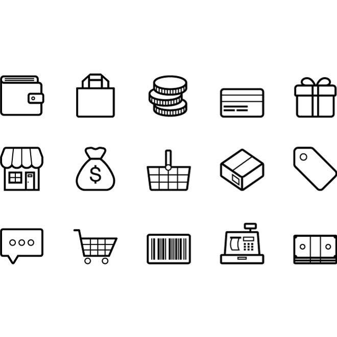 660x660 Free Outlined E Commerce Vector Icons.eps Psd Files, Vectors