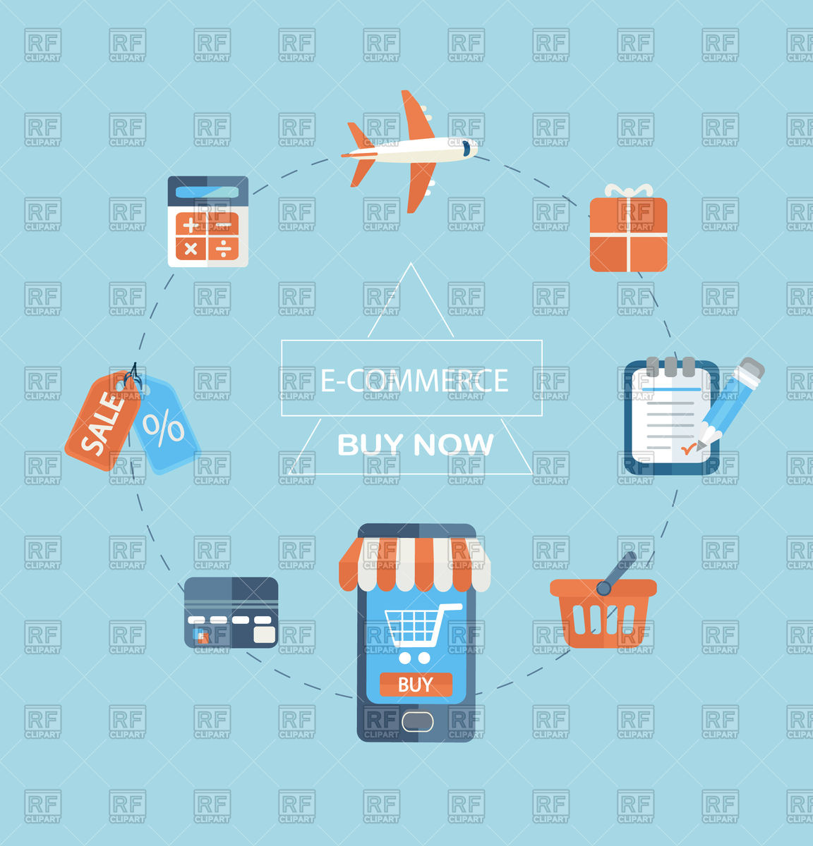 1152x1200 Infographics Of Purchasing Product Via Internet, E Commerce Vector