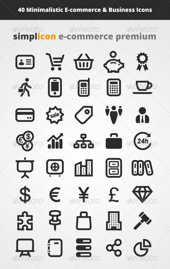 590x931 40 E Commerce Vector Icons By Simplefly Nl Graphicriver