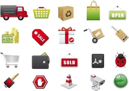 534x379 E Commerce Vector Icons Free Vector In Adobe Illustrator Ai ( .ai