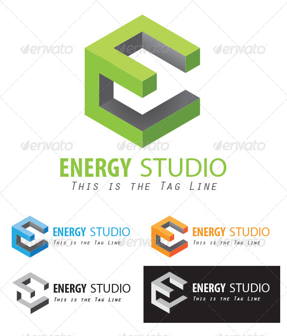 590x690 A Cube Styled E Logo By Henryhu Graphicriver