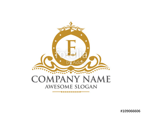 500x400 Royal Crown Letter E Logo Stock Image And Royalty Free Vector