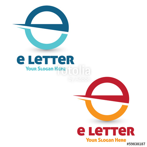 500x500 E Letter Logo Stock Image And Royalty Free Vector Files On