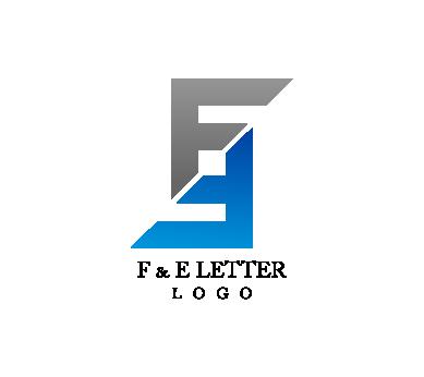 389x346 E F Letter Alphabet Vector Logo Inspiration Download Vector