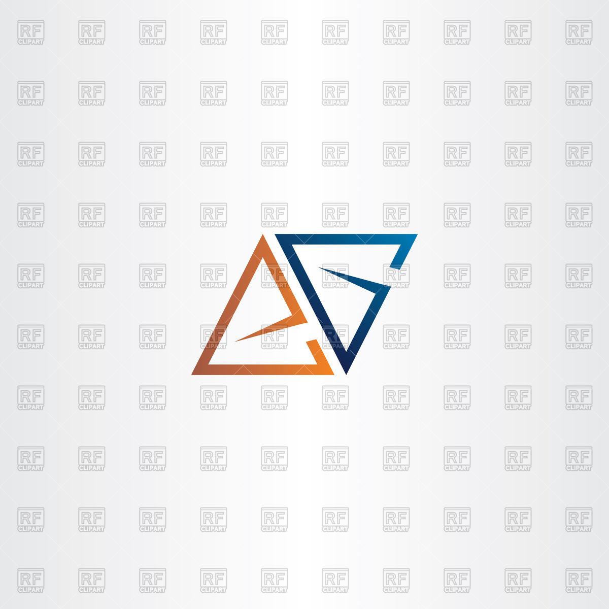 1200x1200 Letter A Or E Logo Vector Image Vector Artwork Of Signs, Symbols