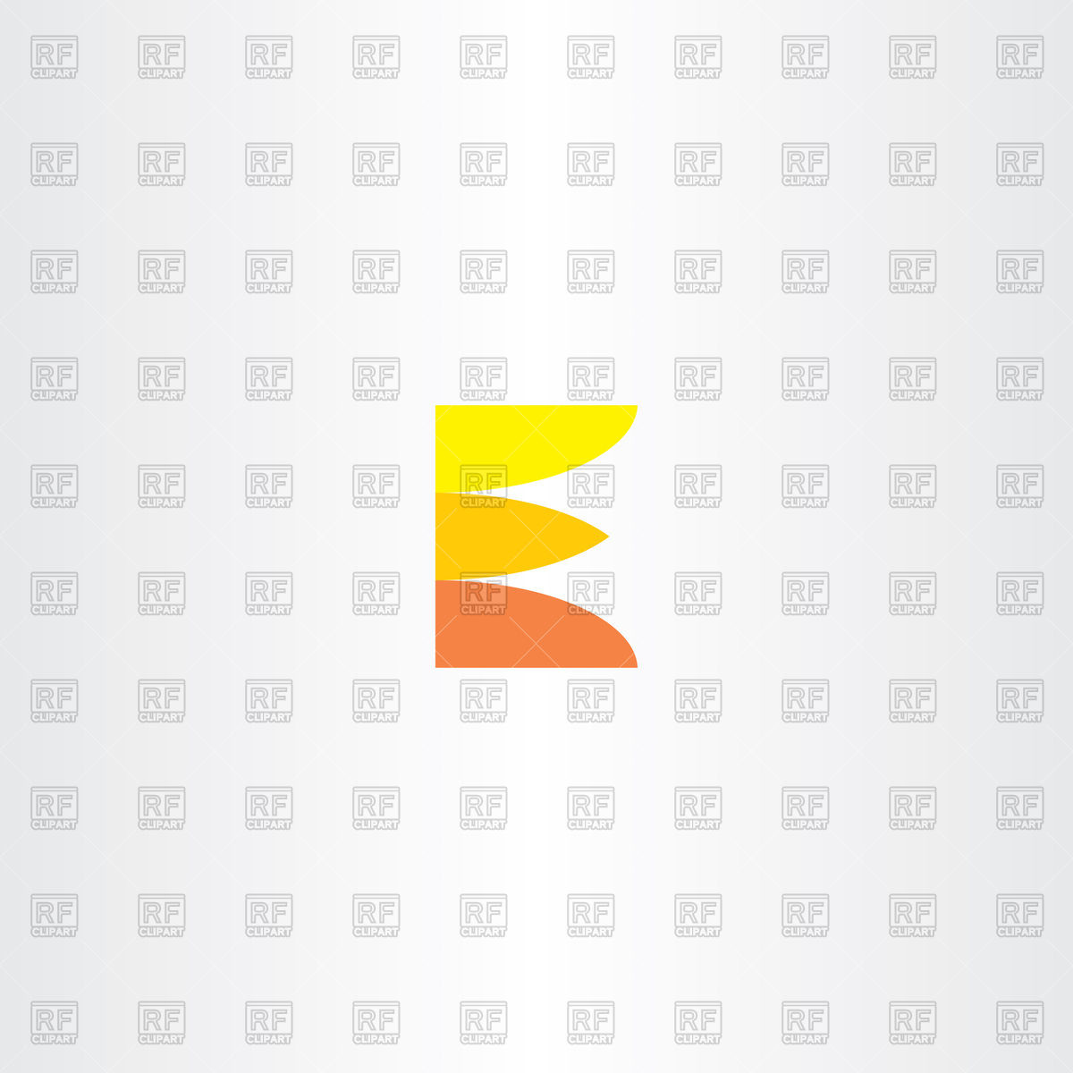 1200x1200 Orange Letter E Logo Vector Image Vector Artwork Of Icons And
