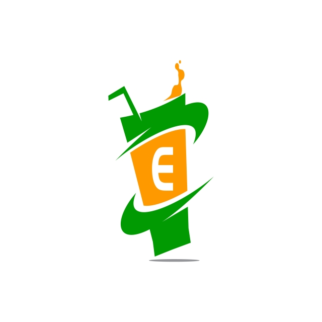 640x640 Restaurant Drink Initial E, Logo, Template, Vector Png And Vector