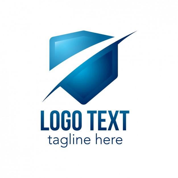 626x626 Blue Logo With Shield Shape Vector Free Download, Blue E Logo