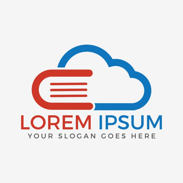 640x640 Cloud Book And E Learning Creative And Symbolic Logo Design