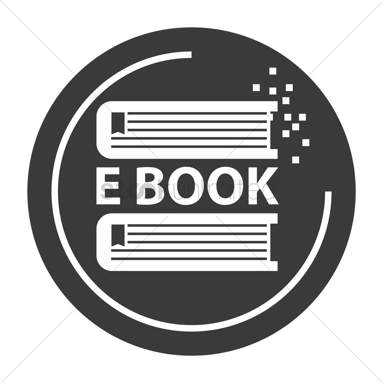 1300x1300 E Book Icon Vector Image