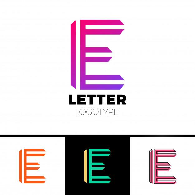 626x626 Abstract Letter E Logo Design Template. Line Vector Symbol