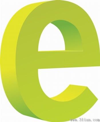 350x430 Letter E Icon Vector Free Vector In Adobe Illustrator Ai ( .ai