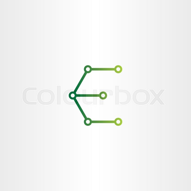 800x800 Letter E Logo Electronics Circuit Icon Vector Symbol Stock