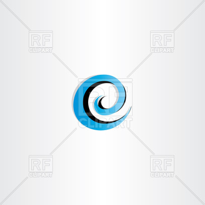 400x400 Letter E Water Wave Spiral Icon Vector Image Vector Artwork Of