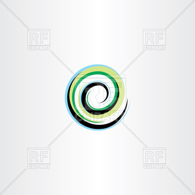 400x400 Letter E Wave Spiral Icon Vector Image Vector Artwork Of Icons