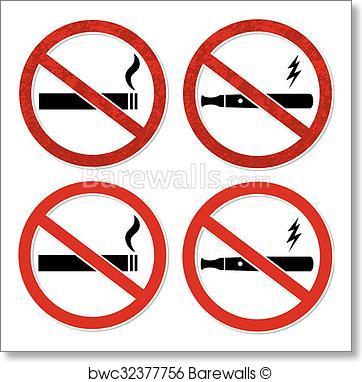 362x382 Art Print Of No Smoking Sign Vector For Cigarett Barewalls