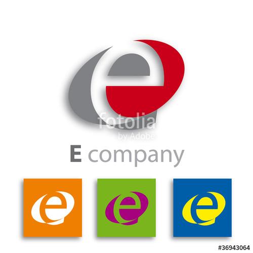 500x500 Oval Logo Initial Letter E