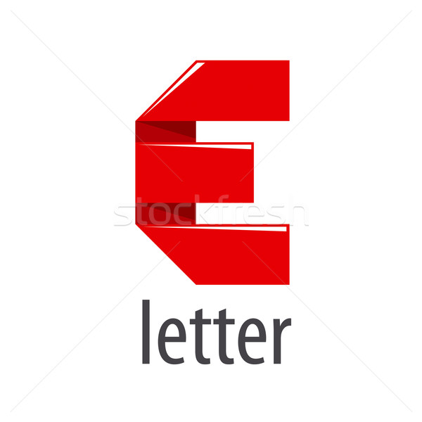 600x600 Vector Logo Red Tape In The Form Of Letter E Vector Illustration