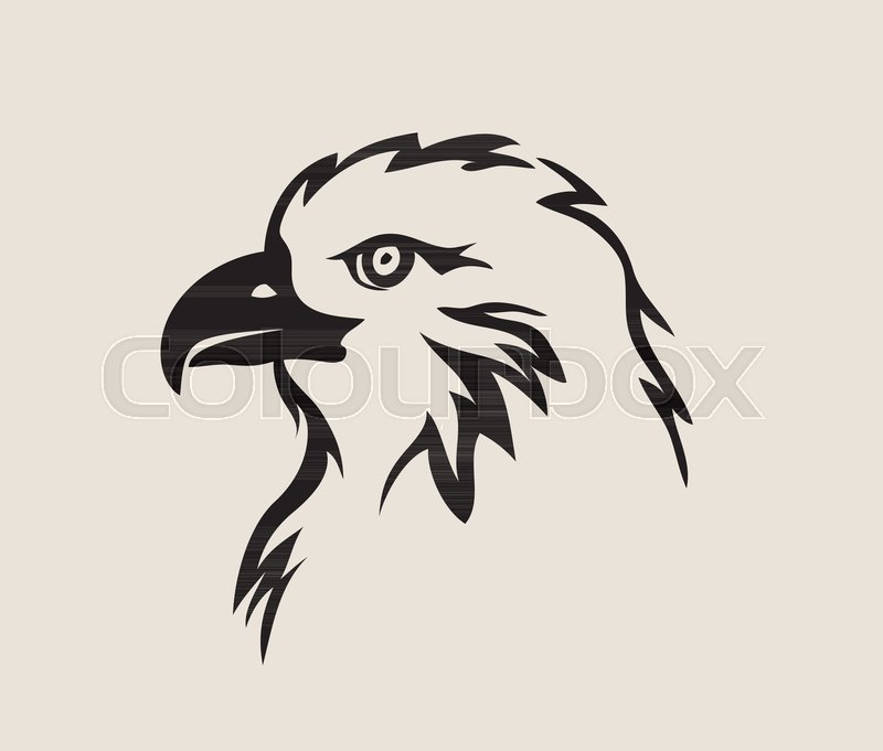 800x681 Eagle Face Tribal Logo, Art Vector Design Stock Vector Colourbox