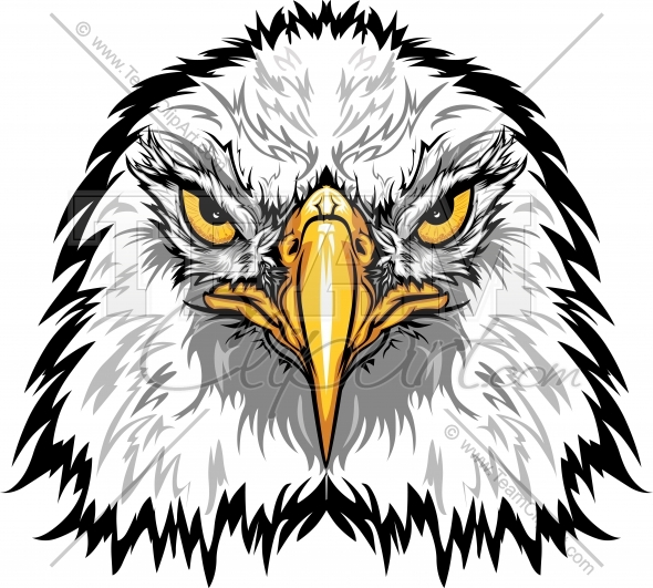 590x531 Eagle Head Clipart Image. Easy To Edit Vector Format.