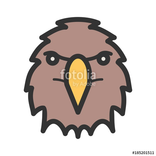 500x500 Eagle Face Icon Stock Image And Royalty Free Vector Files On