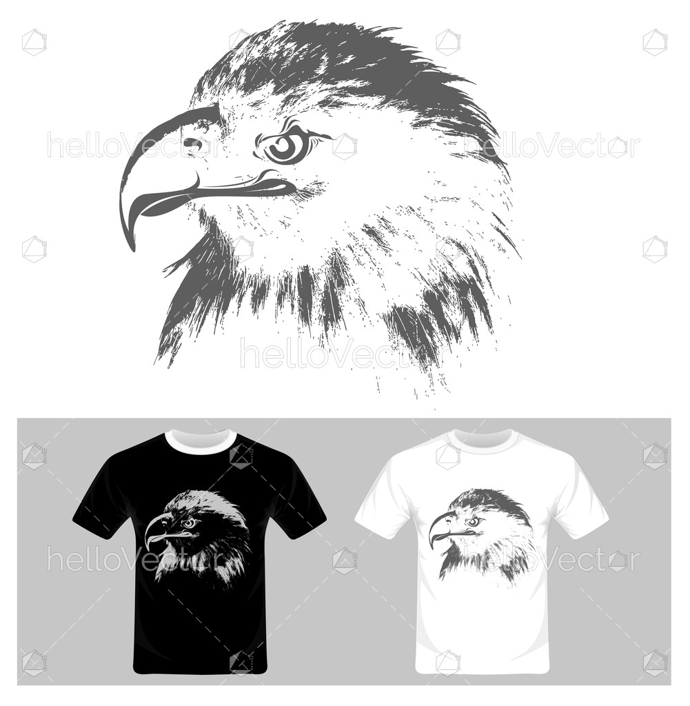 1001x1024 Eagle Face Vector Illustration. T Shirt Graphic Design