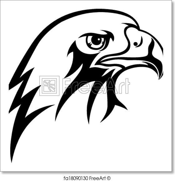 561x581 Free Art Print Of Eagle. Face Eagle Vector Art Design Freeart