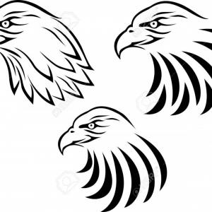 300x300 Stock Illustration Eagle Face Cartoon Animal Mascot Arenawp