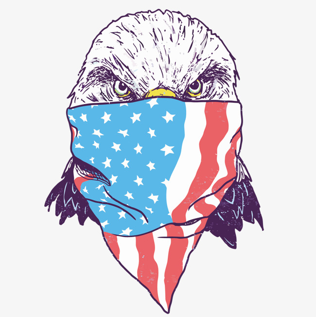 650x651 Vector Face Of The Eagle, American Flag, Eagle, Masked Png And